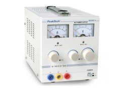 PeakTech 6015A: Linear controlled, stabilised power supply.