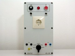 The AS-34 is a fixed power supply for testing of practical projects by the student, produced by Edutec.