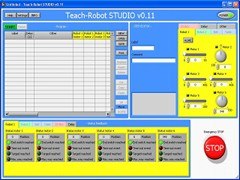 Teach-robot Studio is the control software for the Teach-robot.